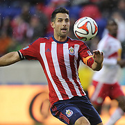 Carlos Bocanegra, Chivas USA, in action during the New York Red Bulls V Chivas USA, Major League Soccer regular season match at Red Bull Arena, Harrison, New Jersey. USA. 30th March 2014. Photo Tim Clayton