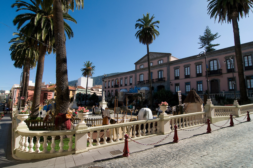 Town square of La Orotava, Teneriffa, Canary islands,Spain