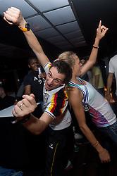 19-01-2015 GER: Portret Giovanni Guidetti bondscoach Nederland vrouwenteam<br /> Donderdag zal de Nederlandse volleybalbond de nieuwe bondscoach voor de vrouwen presenteren / <br /> Volleyball, Europameisterschaft 2013, Abschlussparty<br /> 15.09.13, Puro Sky Lounge, Berlin <br /> <br /> Giovanni Guidetti (Trainer / Bundestrainer GER), Margareta Kozuch (#14 GER) tanzen<br /> <br /> *****NETHERLANDS ONLY*****