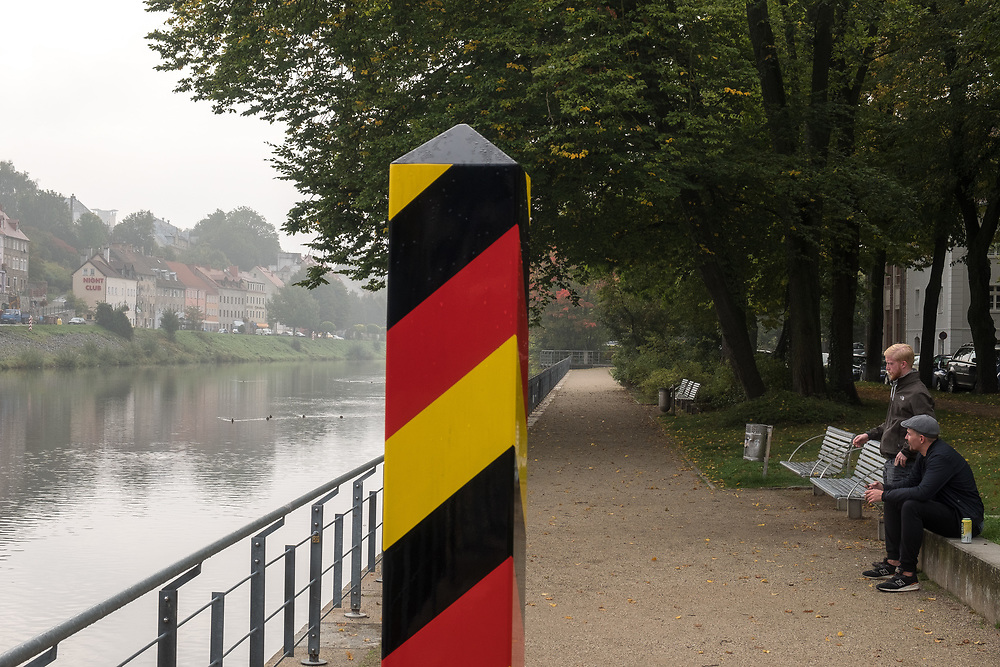 Germany - Deutschland - Saxony - Sachsen after the federal elections - AFD / the town Görlitz on the German-Polish border - river side Neisse; Görlitz , Saxony, 27.09.2017; © Christian Jungeblodt