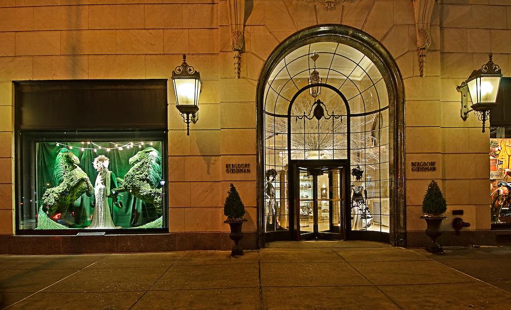 New York City, New York, Bergdorf Goodman Department, Christmas Window Display