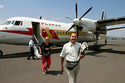 LALIBELA, WELO/ETHIOPIA..Flight Axum - Lalibela aboard an Ethiopian Airlines Fokker 50. Fredy Hess..(Photo by Heimo Aga)