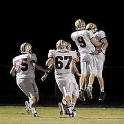 Ashley celebrates a touchdown against Topsail. (Jason A. Frizzelle)