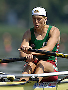 Poznan, POLAND.  2006, FISA, Rowing World cup, BLR W1X Ekaterina  KARSTEN, moves away from the start pontoon at the   'Malta Regatta course;  Poznan POLAND, Fri. 16.06.2006. © Peter Spurrier   ....[Mandatory Credit Peter Spurrier/ Intersport Images] Rowing Course:Malta Rowing Course, Poznan, POLAND