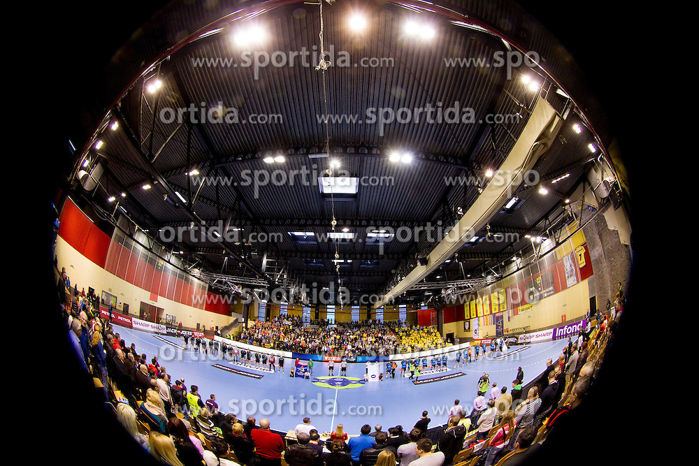 Arena during handball match between RK Gorenje Velenje (SLO) vs RK Metalurg Skopje (MKD) in 8th Round of Group C of EHF Champions League 2012/13 on February 9, 2013 in Red hall, Velenje, Slovenia. (Photo By Vid Ponikvar / Sportida)