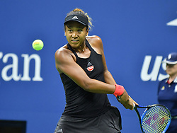 September 6, 2018 - Flushing Meadow, NY, U.S. - FLUSHING MEADOW, NY - SEPTEMBER 06:  Naomi Osaka (JPN) in action winning her semi-final match in the Women's Singles Championships at the US Open on September 06, 2018, at the Billie Jean King Tennis Center in Flushing Meadow, NY. (Photo by Cynthia Lum/Icon Sportswire) (Credit Image: © Cynthia Lum/Icon SMI via ZUMA Press)