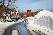 One of the most recognizable characteristics of Maine Street in Brunswick are the large snowbanks that the plows create down the center in winter. I captured this view after the Blizzard of 2015, a January storm that left over 2 feet of snow in town.