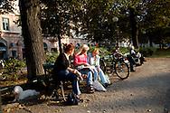 SWEDEN- STOKHOLM - 26/09/2006 : Mariastorget Trendy area in Sodermalm .///.Quartier branché de Mariastorget dans l ile de Sodermalm