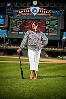 Portrait of Marian Rhodes at Chase Field in Phoenix, Arizona on March 232, 2012.  (Photo by Jonathan Willey/Arizona Diamondbacks)