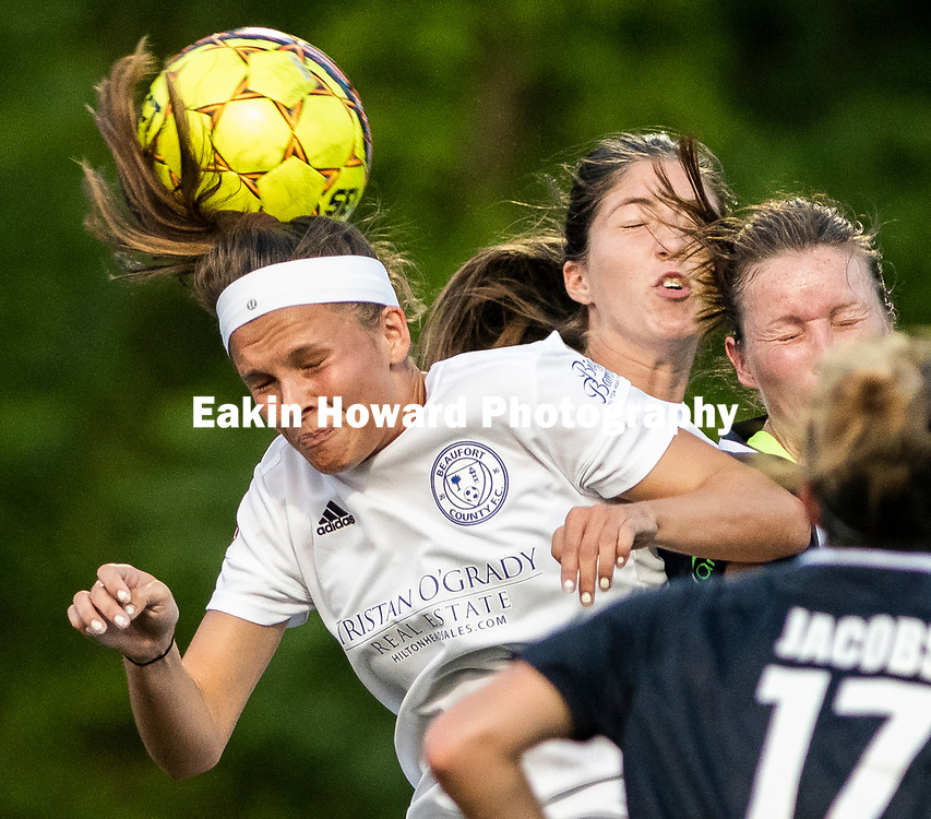 Asheville City Soccer Club tied Beufort County Football Club in Memorial Stadium in Asheville, NC on June 12, 2018.