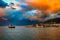 """Jesus of Nazareth Panorama - Sorrentino Fishing Boat - Marina Grande Sorrento""..."