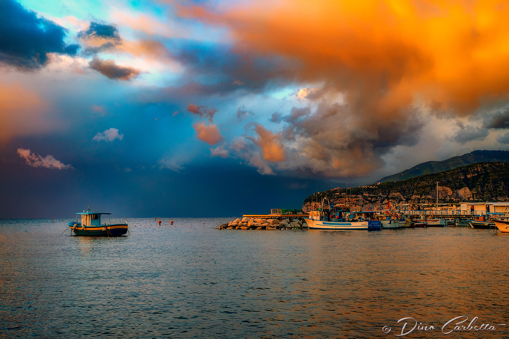 """Jesus of Nazareth Panorama - Sorrentino Fishing Boat - Marina Grande Sorrento""...<br />