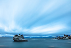 """Bonsai Rock Morning 1"" - Photograph of Bonsai Rock on the east shore of Lake Tahoe, shot before sunrise."