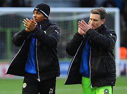 Forest Green Rovers players applaud fans before kick off- 06/01/2018 - FOOTBALL - New Lawn Stadium- Nailsworth, England- Forest Green Rovers v Port Vale - Sky Bet League Two