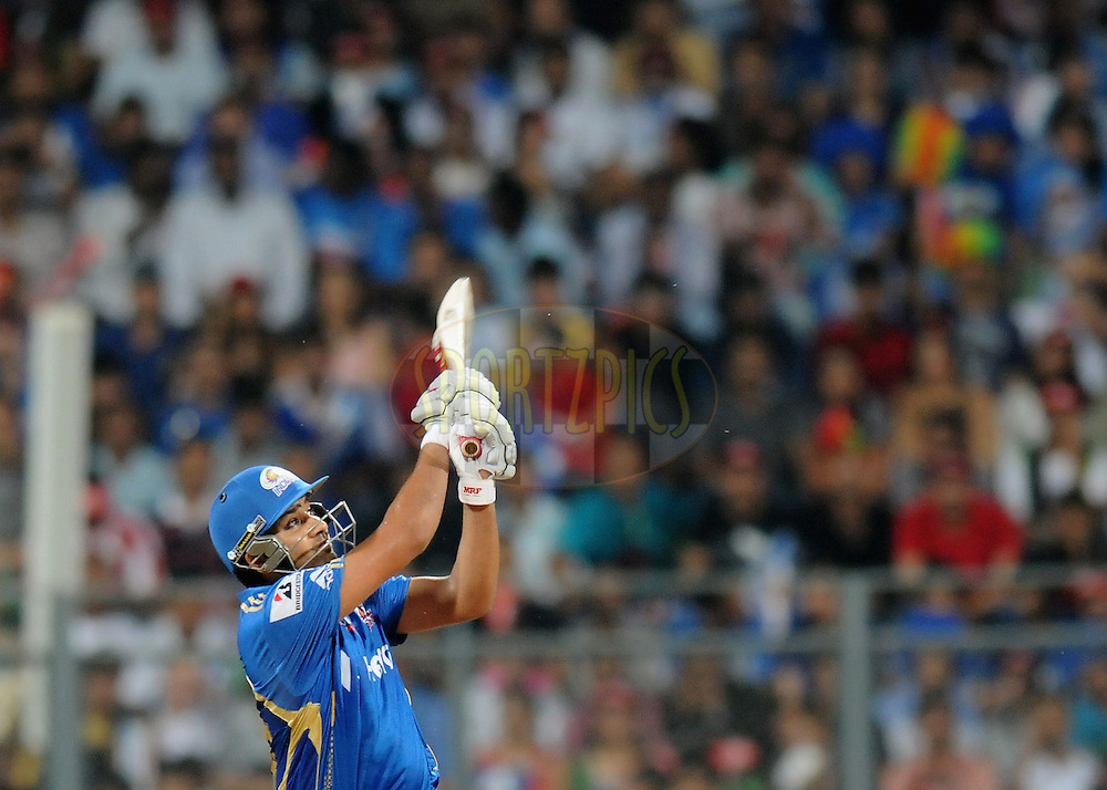 Rohit Sharma of Mumbai Indians bats during match 12 of  the Indian Premier League ( IPL) 2012  between The Mumbai Indians and the Rajasthan Royals held at the Wankhede Stadium in Mumbai on the 11th April 2012..Photo by Pal Pillai/IPL/SPORTZPICS