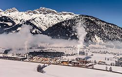 THEMENBILD, Pellets Hersteller Schößwendter Holz, aufgenommen in Saalfelden, Oesterreich am 11. Feber 2015 // Pellets producer Schößwendter Holz, Saalfelden, Austria on 2015/02/11. EXPA Pictures © 2015, PhotoCredit: EXPA/ JFK