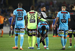 April 19, 2018 - Brugge, BELGIUM - Charleroi's Christophe Diandy looks dejected after the Jupiler Pro League match between Club Brugge and Sporting Charleroi, in Brugge, Thursday 19 April 2018, on day four of the Play-Off 1 of the Belgian soccer championship. BELGA PHOTO VIRGINIE LEFOUR (Credit Image: © Virginie Lefour/Belga via ZUMA Press)