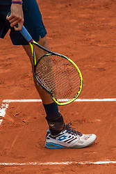 June 1, 2018 - Paris, Ile-de-France, France - Matteo Berrettini of Italy broke his racket  during the third round at Roland Garros Grand Slam Tournament - Day 6 on June 01, 2018 in Paris, France. (Credit Image: © Robert Szaniszlo/NurPhoto via ZUMA Press)