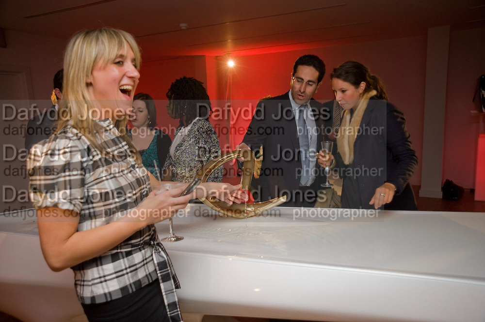 KATIE LANHAM; AMIR SHARIAT; IDA CHAMPION. Zaha Hadid and Triflow Concepts host the launch of a pioneering new kitchen and bathroom lifestyle. 46 Portland Place. London. 28 January 2009 *** Local Caption *** -DO NOT ARCHIVE-© Copyright Photograph by Dafydd Jones. 248 Clapham Rd. London SW9 0PZ. Tel 0207 820 0771. www.dafjones.com.<br /> KATIE LANHAM; AMIR SHARIAT; IDA CHAMPION. Zaha Hadid and Triflow Concepts host the launch of a pioneering new kitchen and bathroom lifestyle. 46 Portland Place. London. 28 January 2009
