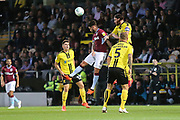 Burton Albion defender John Brayford (2) heads clear during the second round or the Carabao EFL Cup match between Burton Albion and Aston Villa at the Pirelli Stadium, Burton upon Trent, England on 28 August 2018.