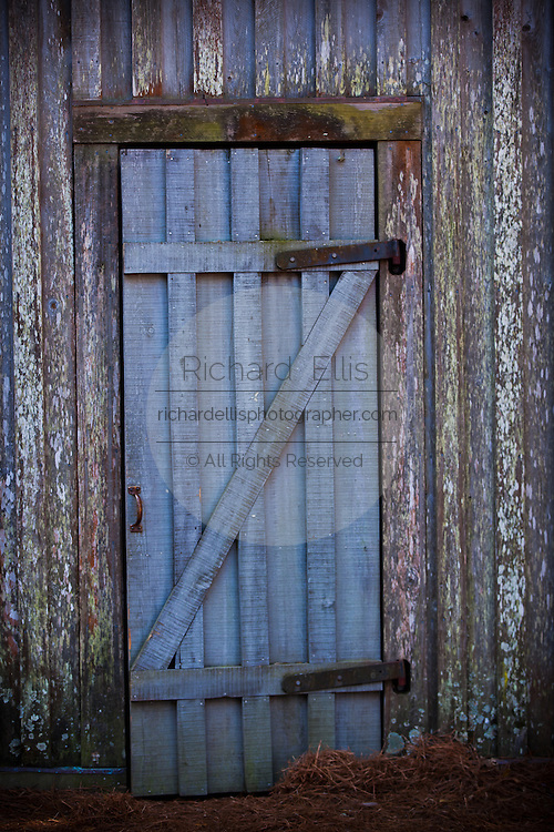 Door to the Old Cotton Dock at Boone Hall Plantation in Charleston, SC.