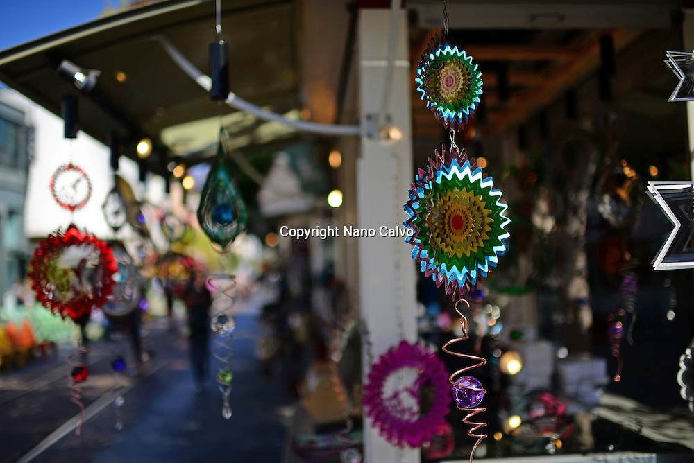Decoration elements for sale at The Grove mall, Los Angeles.