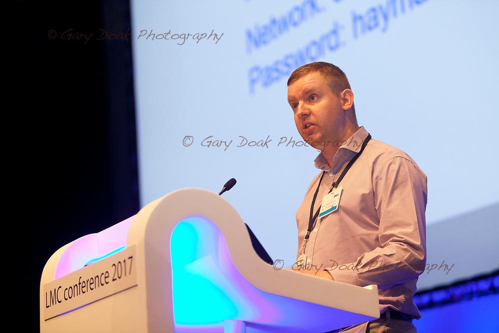 Adam Harrison<br /> BMA LMC's Conference<br /> EICC, Edinburgh<br /> <br /> 18th May 2017<br /> <br /> Picture by Gary Doak