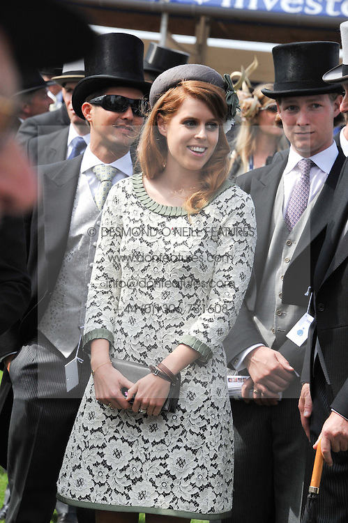 PRINCESS BEATRICE OF YORK at the 2012 Investec sponsored Derby at Epsom Racecourse, Epsom, Surrey on 2nd June 2012.