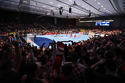 The handball match between National teams of Serbia and Croatia in Group A of Men's EHF EURO 2020 on January 13, 2020 in Stadthalle Graz, Graz, Austria