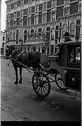 10/09/1962<br /> 09/10/1962<br /> 10 September 1962<br /> Picture outside the Shelbourne Hotel Dublin, with a horse and cab.