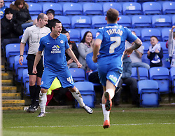 Aaron Williams of Peterborough United celebrates scoring his goal. - Mandatory byline: Joe Dent/JMP - 12/03/2016 - FOOTBALL - ABAX Stadium - Peterborough, England - Peterborough United v Port Vale - Sky Bet League One