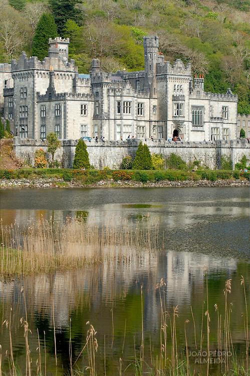 View of abbey at Connemara, Ireland