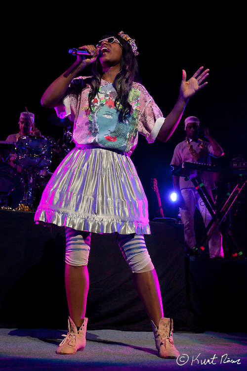 March 31, 2012 - Orlando, Florida, U.S. - Santigold performs at the Amway Center in Orlando, Florida.
