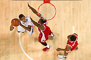 DALLAS, TX - JANUARY 21: Ben Moore #34 of the SMU Mustangs drives to the basket against the Rutgers Scarlet Knights on January 21, 2014 at Moody Coliseum in Dallas, Texas.  (Photo by Cooper Neill/Getty Images) *** Local Caption *** Ben Moore