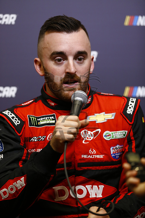 January 23, 2018 - Charlotte, North Carolina, USA: Austin Dillon (3) meets with the media during the NASCAR Media Tour at Charlotte Convention Center in Charlotte, North Carolina.