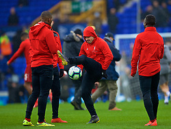 LIVERPOOL, ENGLAND - Sunday, March 3, 2019: Liverpool's substitute Xherdan Shaqiri during the pre-match warm-up before the FA Premier League match between Everton FC and Liverpool FC, the 233rd Merseyside Derby, at Goodison Park. (Pic by Laura Malkin/Propaganda)