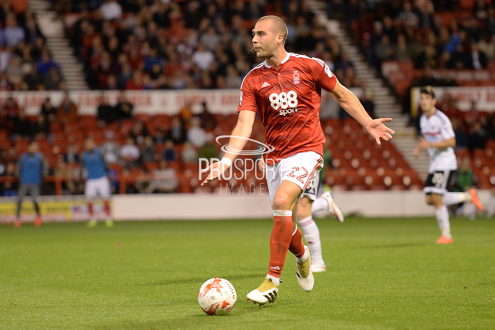Nottingham Forest midfielder Pajtim Kasami (22) during the EFL Sky Bet Championship match between Nottingham Forest and Fulham at the City Ground, Nottingham, England on 27 September 2016. Photo by Jon Hobley.
