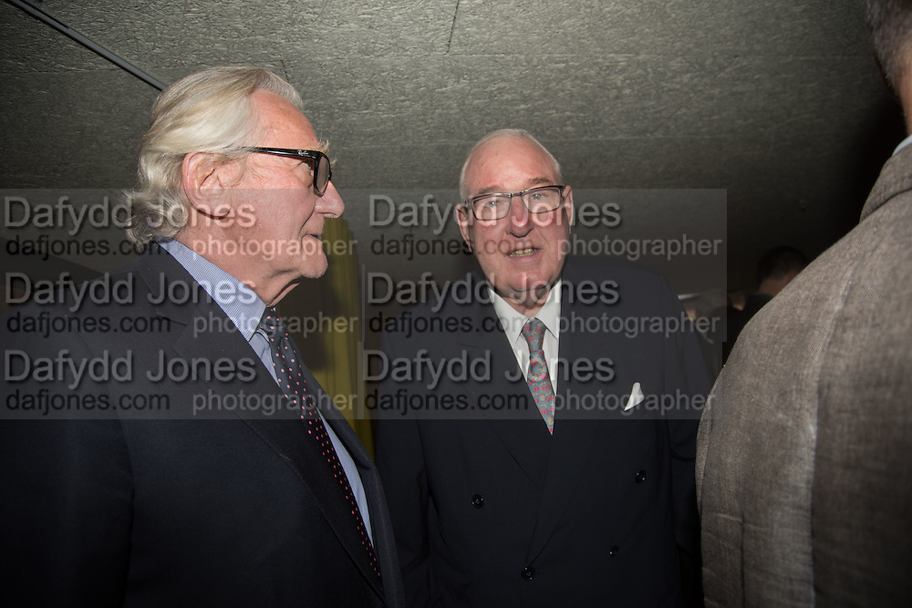 LORD HESELTINE; HENRY KESWICK, Launch of ' More Human',  Designing a World Where People Come First' by Steve Hilton. Party held at Second Home in Princelet St, off Brick Lane, London. 19 May 2015.