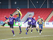 Scott Gardiner (centre0 scores the winning goal - Dundee Argyle win the Scottish Sunday Trophy beating Bullfrog in the final at Forthbank, Stirling<br /> <br />  <br />  - © David Young - www.davidyoungphoto.co.uk - email: davidyoungphoto@gmail.com