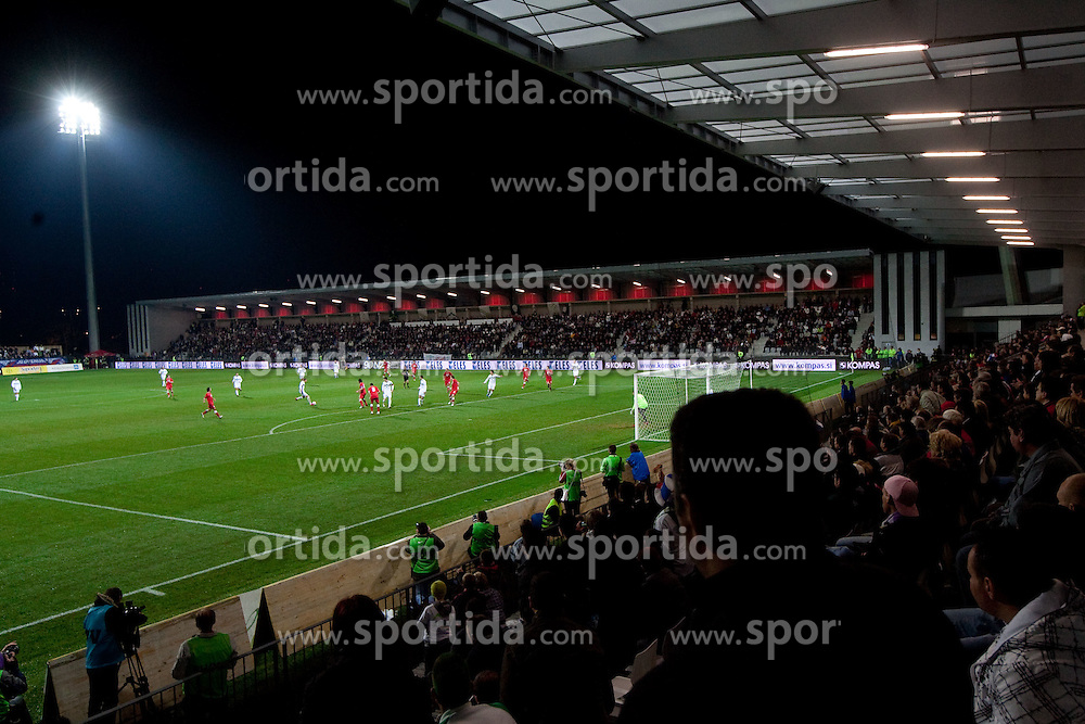 Stadium Bonifika during friendly football match between National teams of Slovenia and Georgia, on November 17, 2010 in Stadium Bonifika, Koper, Slovenia. Georgia defeated Slovenia 2-1. (Photo By Vid Ponikvar / Sportida.com)