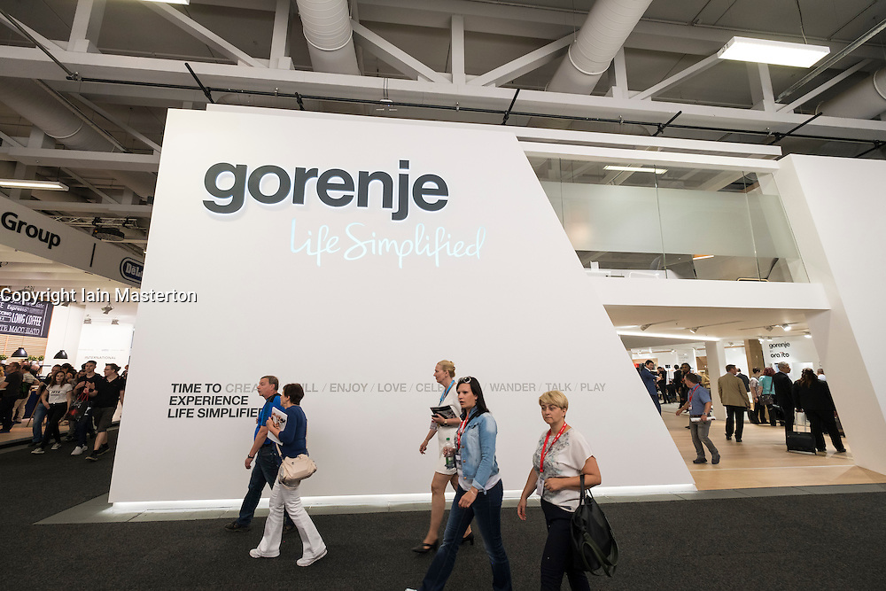 Gorenje appliance manufacturer stand at 2016  IFA (Internationale Funkausstellung Berlin), Berlin, Germany