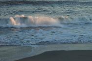 Slow motion capture of ocean waves.