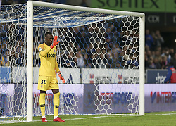 October 20, 2018 - France - Sy Seydou ( MON) during the French L1 football match between Strasbourg (RCSA) and Monaco at the Meinau stadium in Strasbourg, eastern France on October 20, 2018. (Credit Image: © Elyxandro Cegarra/NurPhoto via ZUMA Press)
