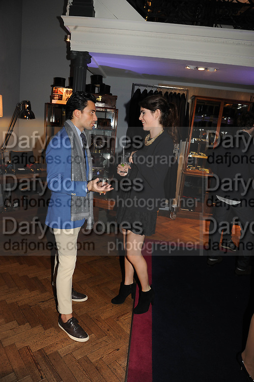 CRISTIANO ISADORA DE ROSSI; LEXI ABRAMS, The Gentleman's Journal Autumn Party, in partnership with Gieves and Hawkes- No. 1 Savile Row London. 3 October 2013