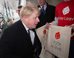 © Licensed to London News Pictures. 08/04/2016. London, UK.  Boris Johnson arrives for the Conservative Party Spring Forum in central London.  Photo credit: Peter Macdiarmid/LNP