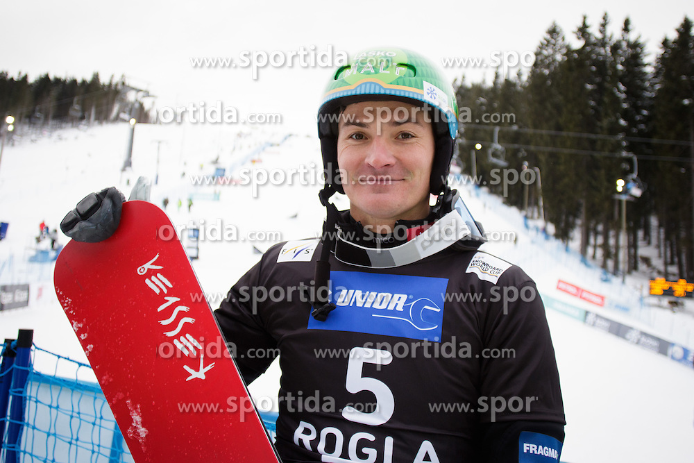 Rok Marguc (SLO) during Final Run of Men's Parallel Giant Slalom at FIS Snowboard World Cup Rogla 2016, on January 23, 2016 in Course Jasa, Rogla, Slovenia. Photo by Ziga Zupan / Sportida