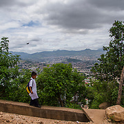 General views of the community of El Carrizal, ourside of Tegucigalpa city in Honduras. Wednesday, June 14, 2017. El Carrizal is one of many communities in Honduras control by gangs and under the constant treat of violence.