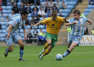 Coventry - Saturday August 9th, 2008: Arturo Lupoli of Norwich City and Aron Gunnarsson of Coventry City during the Coca Cola Championship match at The Ricoh Arena, Coventry. (Pic by Michael Sedgwick/Focus Images)