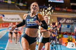 Lieke Klaver wins the 400 meters and Femke Bol comes in second during the Dutch Indoor Athletics Championship on February 23, 2020 in Omnisport De Voorwaarts, Apeldoorn