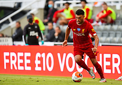 LIVERPOOL, ENGLAND - Sunday, July 26, 2020: Liverpool's Alex Oxlade-Chamberlain during the final match of the FA Premier League season between Newcastle United FC and Liverpool FC at St. James' Park. The game was played behind closed doors due to the UK government's social distancing laws during the Coronavirus COVID-19 Pandemic. Liverpool won 3-1 and finished the season as Champions on 99 points. (Pic by Propaganda)